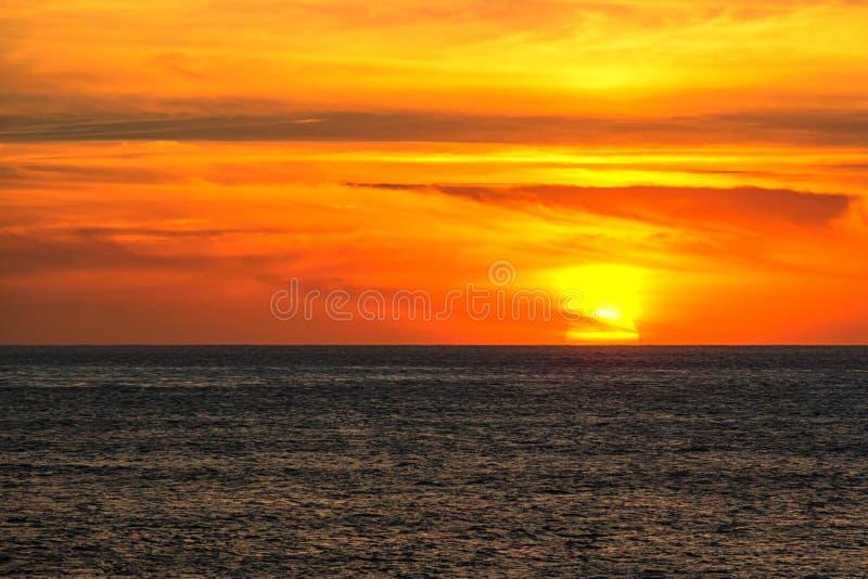 Impresión de duración de puesta del sol de California imagen de archivo libre de regalías
