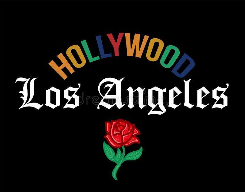 Impresión de HOLLYWOOD Los Ángeles libre illustration