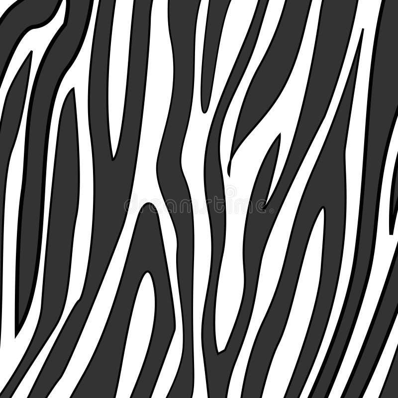 Impresión de la cebra stock de ilustración