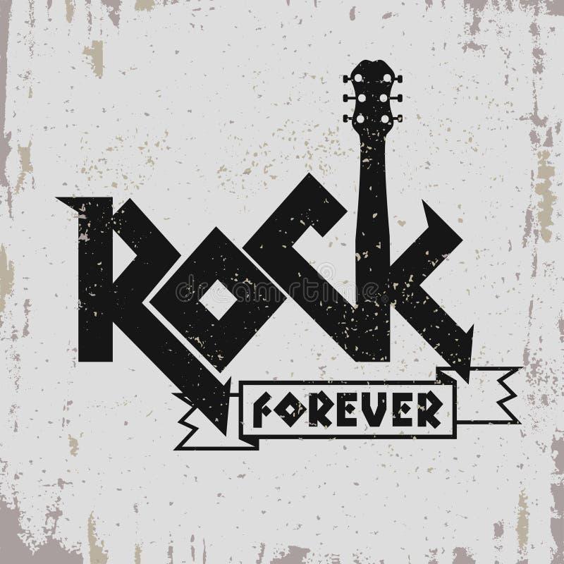Impresión de la música rock ilustración del vector
