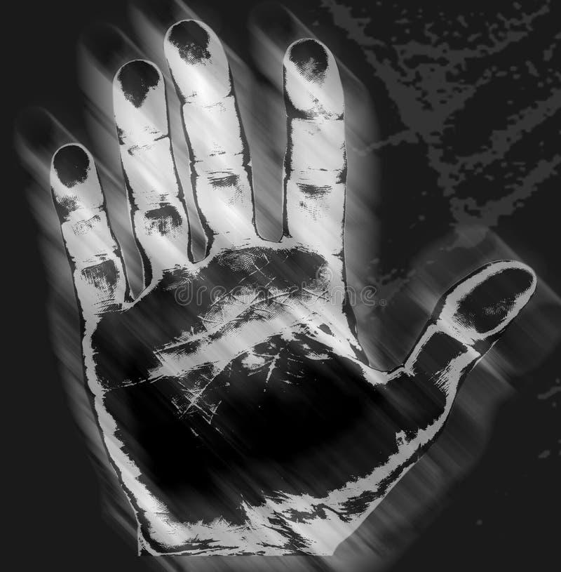 Impresión de la mano libre illustration