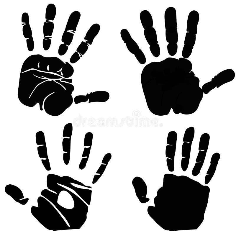 Impresión de la mano stock de ilustración