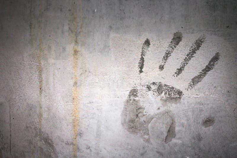 Impresión de la mano del Grunge fotos de archivo libres de regalías