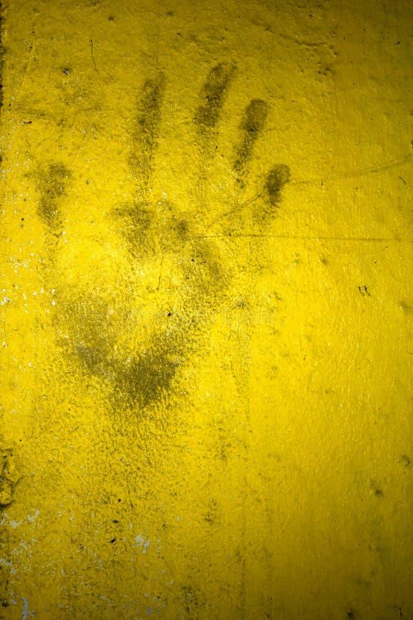 Impresión de la mano del Grunge fotografía de archivo