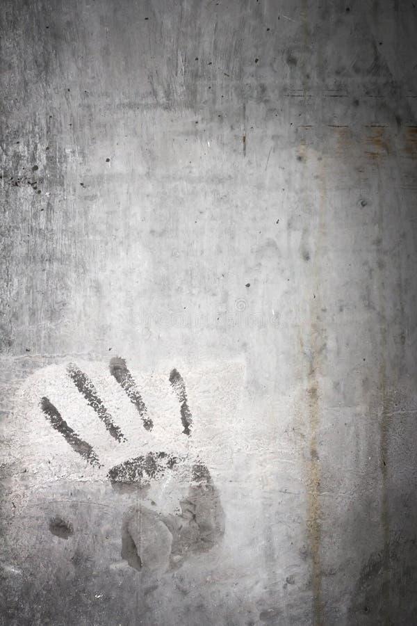 Impresión de la mano del Grunge foto de archivo