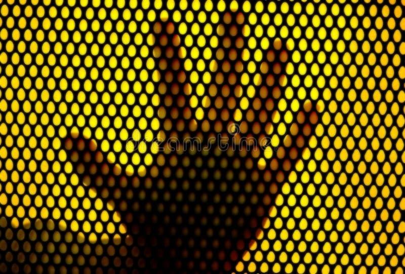 Impresión de la mano en red del metal libre illustration