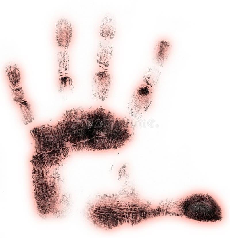 Impresión de la mano izquierda stock de ilustración