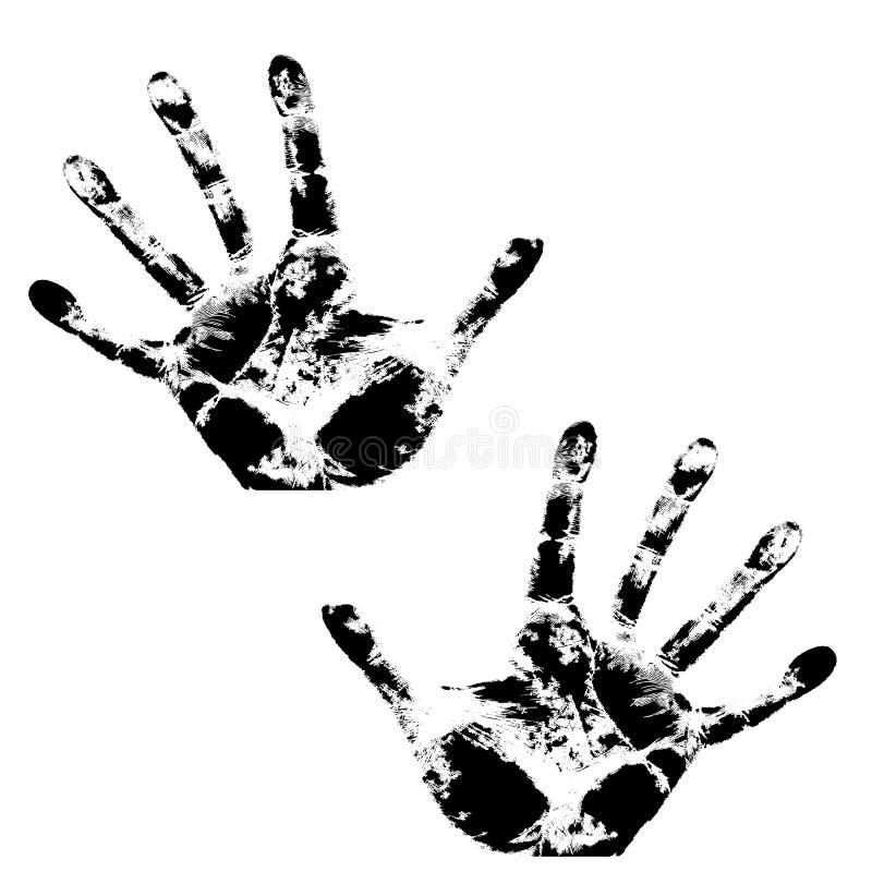 Impresión de la mano, modelo de la textura de la piel libre illustration
