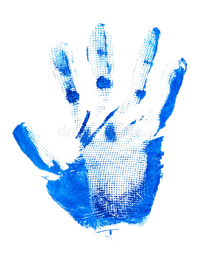Impresión de la palma fotografía de archivo libre de regalías