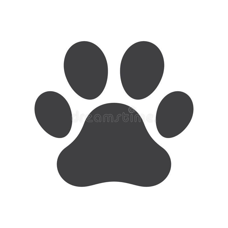 Impresión de la pata del perro del vector stock de ilustración