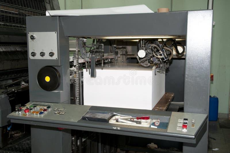 Impresión de la prensa - máquina compensada imagen de archivo libre de regalías