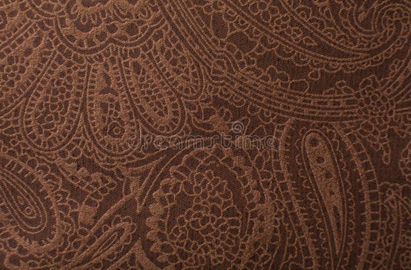 Impresión de la textura del cuero marrón oscuro como fondo fotos de archivo libres de regalías