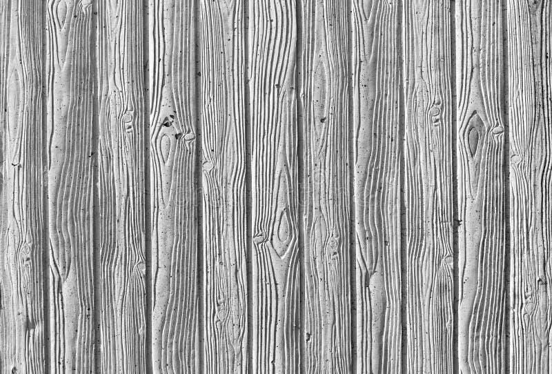 Impresión de la textura de madera en hormigón colado fotos de archivo