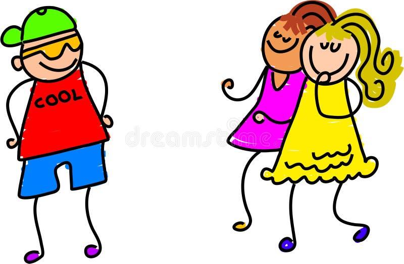 Impresión de las muchachas ilustración del vector