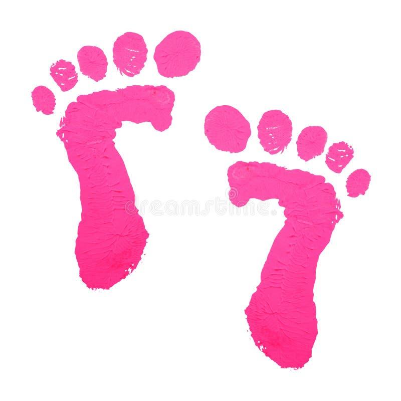 Impresión de los pies del bebé fotografía de archivo libre de regalías