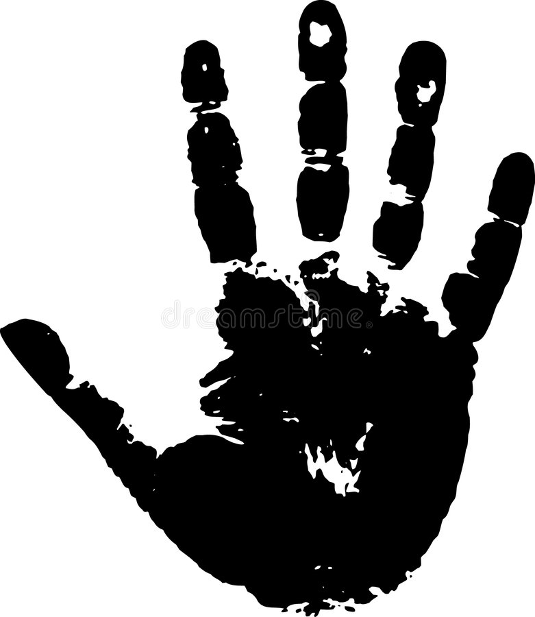 Impresión de una palma foto de archivo libre de regalías