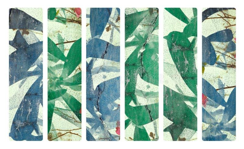 Impresión del arte en el conjunto de papel de la bandera del yeso y del coco stock de ilustración
