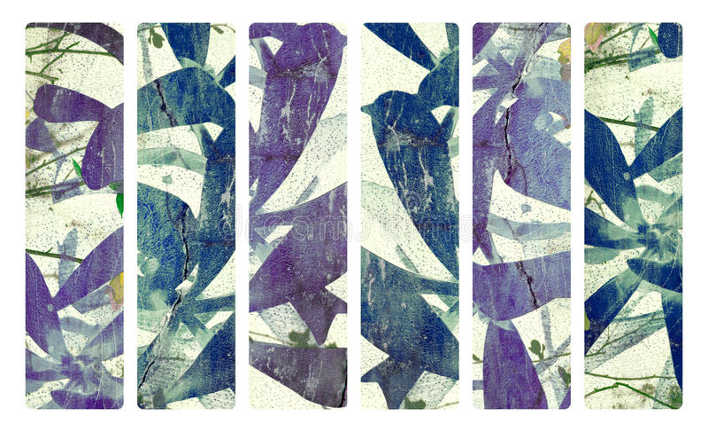 Impresión del arte en la bandera de papel del yeso y del coco ilustración del vector