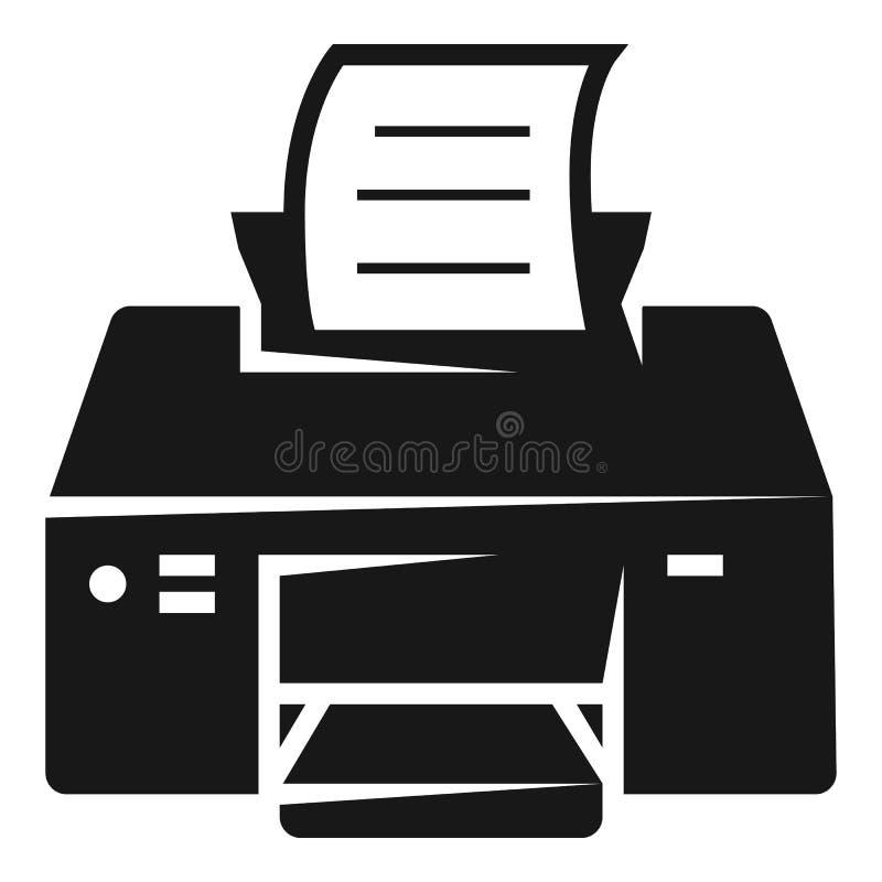 Impresión del icono de impresora, estilo simple libre illustration