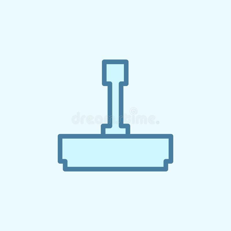 impresión del icono del esquema del campo Elemento del icono simple de 2 colores Línea fina icono para el diseño y el desarrollo, libre illustration