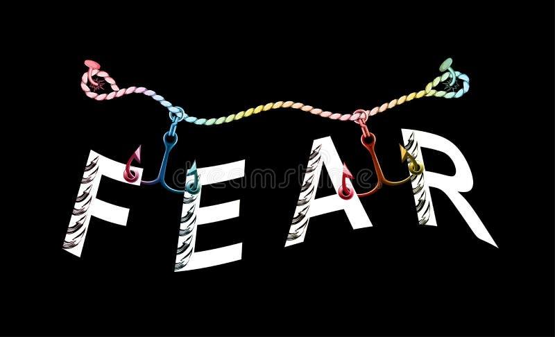 Impresión del lema de la moda Lema creativo de la tipografía del miedo libre illustration