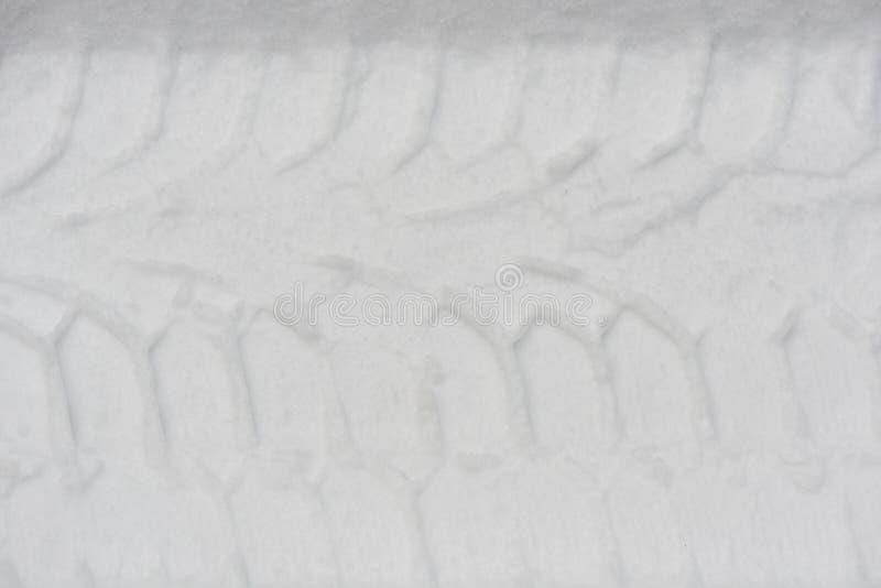 Impresión del neumático de coche fotos de archivo
