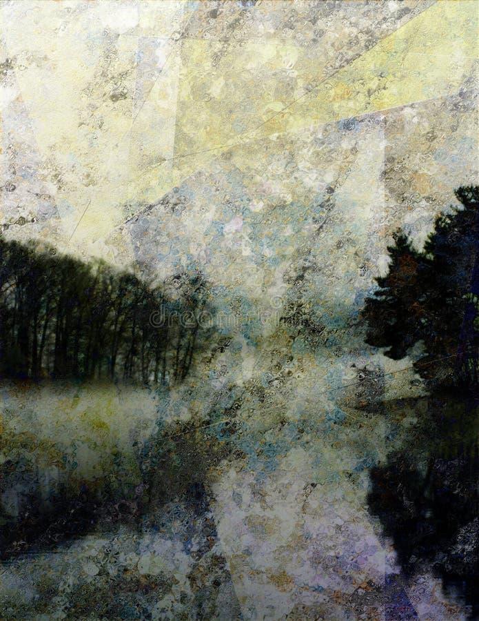 Impresión del paisaje libre illustration