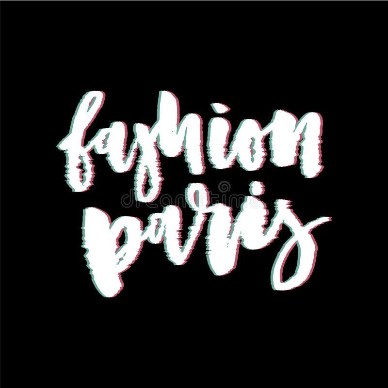 Impresión del vector de París de la moda del lema de la interferencia para la impresión de la camiseta imágenes de archivo libres de regalías