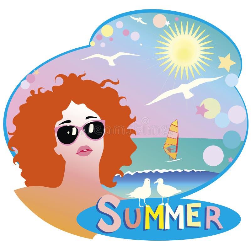 Impresión del verano libre illustration