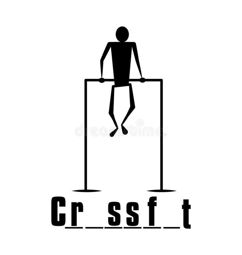 Impresión divertida del ` del juego del verdugo del ` de Crossfit imagen de archivo
