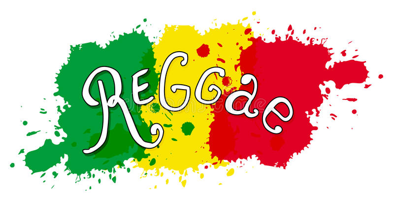 Impresión en estilo del reggae Tipografía aislada vector Diseño de letras manuscrito Bandera, tarjeta, camiseta, bolso, impresión ilustración del vector