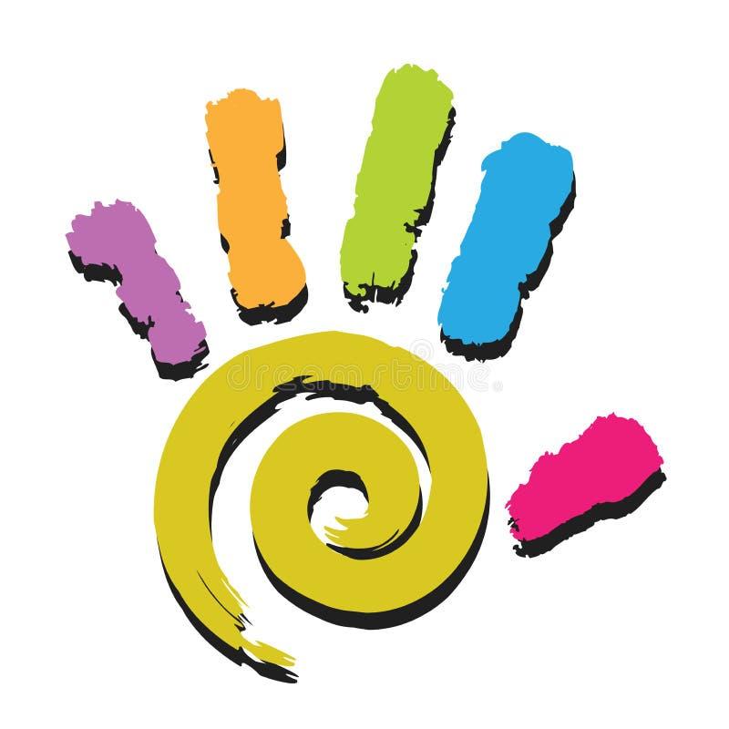 Impresión-espiral de la mano libre illustration