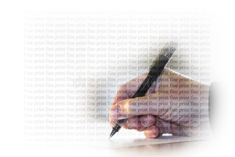 Impresión fina de la firma imagen de archivo