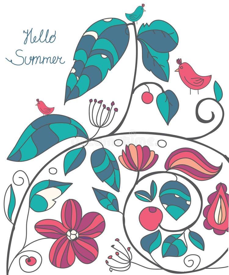 impresión floral brillante hermosa libre illustration