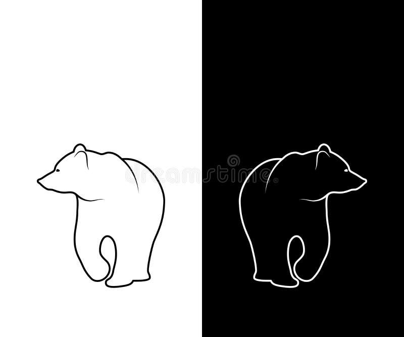 Impresión gráfica de la silueta del oso Rebecca 36 ilustración del vector
