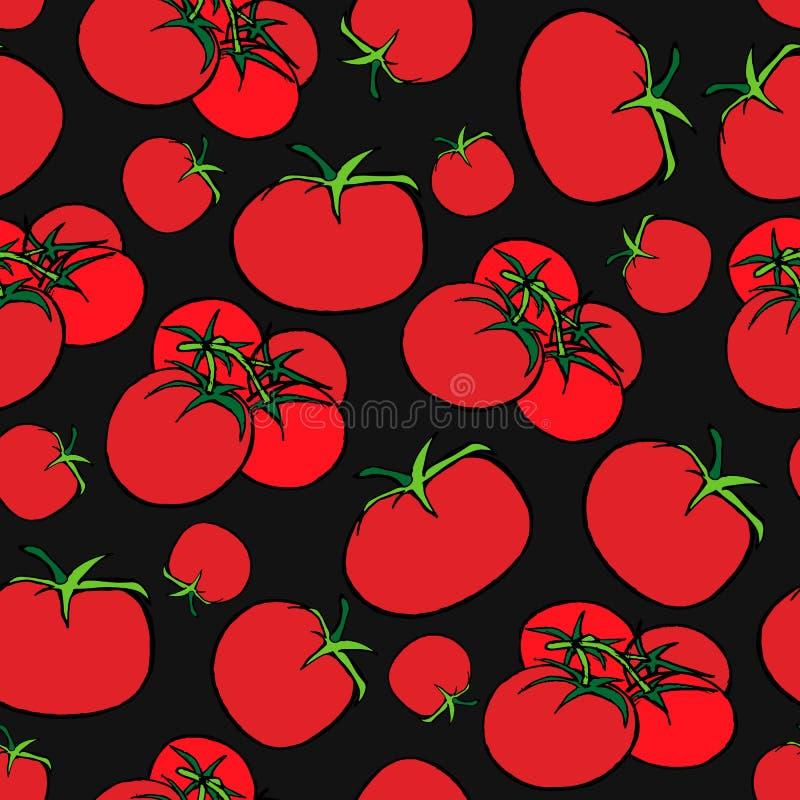 Impresión inconsútil de tomates ilustración del vector