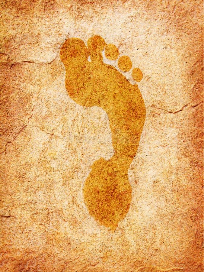 Impresión mojada del pie fotos de archivo libres de regalías