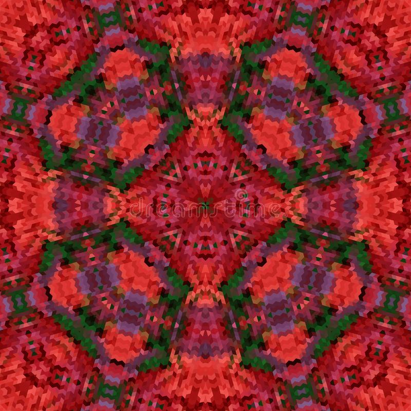 Impresión ornamental del mosaico caleidoscópico abstracto inconsútil del modelo stock de ilustración