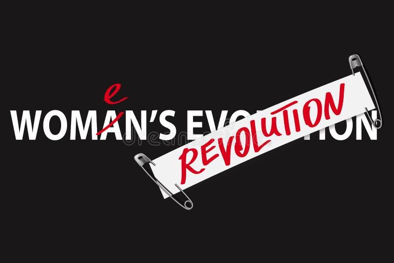 Impresión para mujer de la moda de la camiseta de la revolución libre illustration
