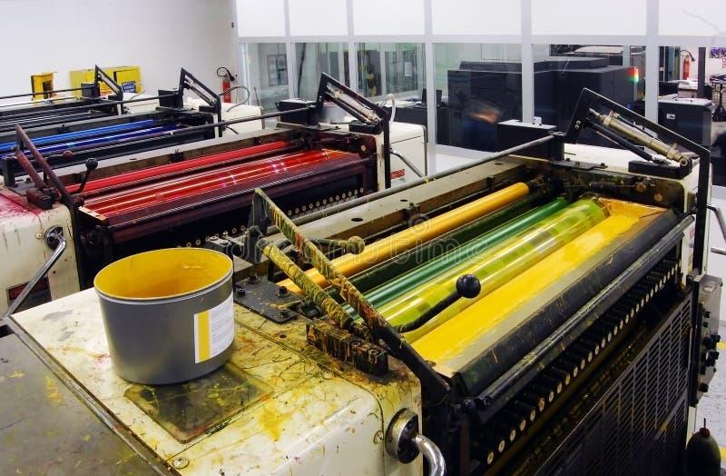Impresión - prensa compensada fotografía de archivo libre de regalías