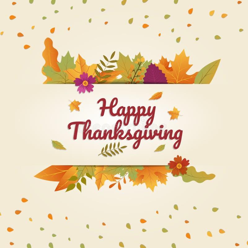 Impresión promocional del otoño feliz de la acción de gracias y cartel digital libre illustration