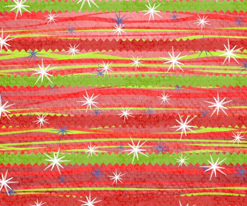 Impresión retra 2 de la Navidad de la raya stock de ilustración