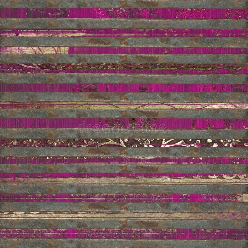 Impresión rosada de madera y del desfile de las barras fotografía de archivo
