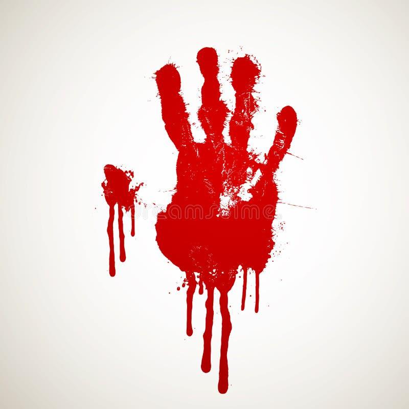 Impresión sangrienta de la mano libre illustration