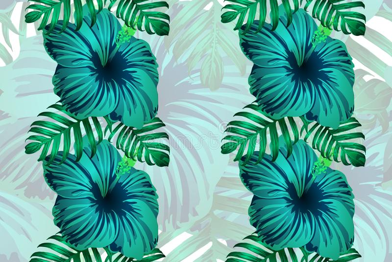 Impresión sin fin de la selva tropical hawaiana libre illustration