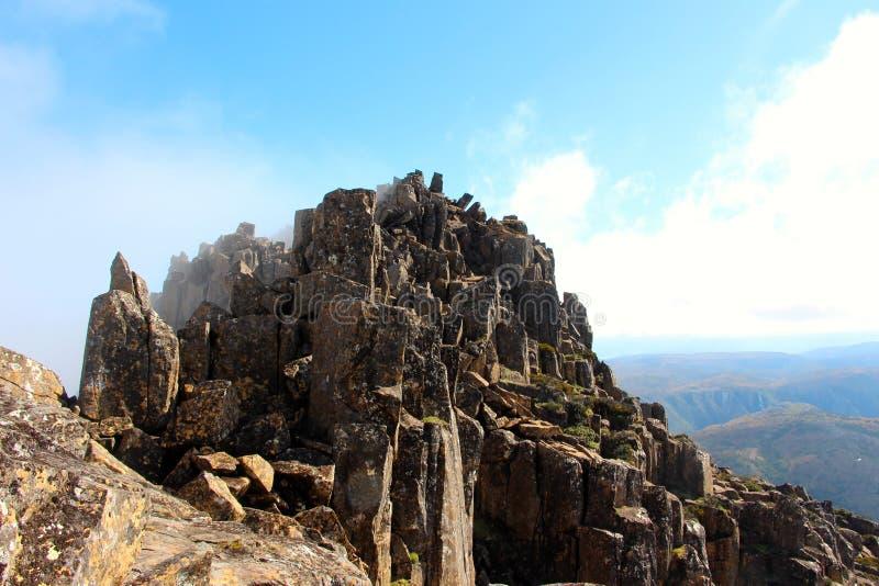 Impresionante desde arriba de la montaña de la cuna fotografía de archivo