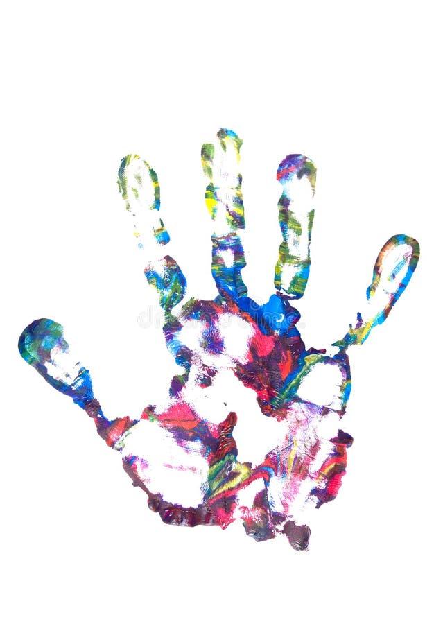 Impresione de la palma fotografía de archivo