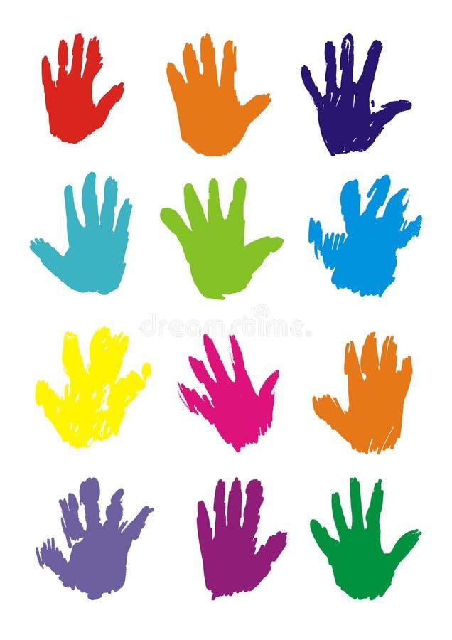 Impresiones de la mano,   foto de archivo libre de regalías