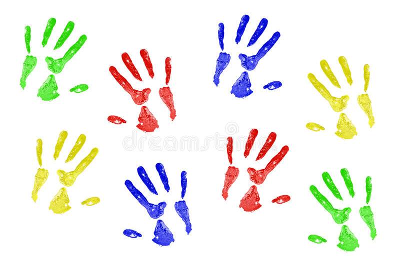 Impresiones de la mano foto de archivo