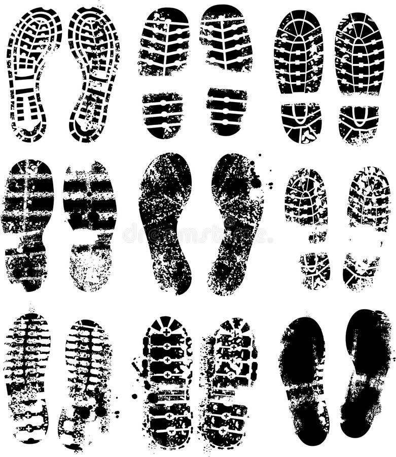 Impresiones de la planta del pie del vector libre illustration
